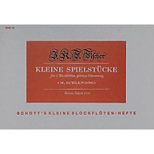 Schott Little Playing Pieces 2 Recorders SS