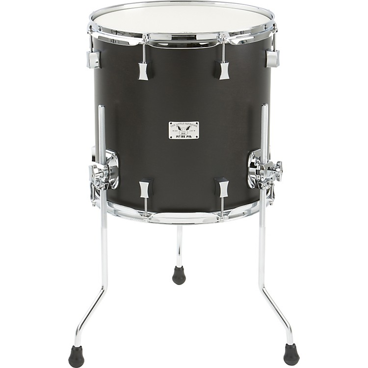 Pork Pie Little Squealer Birch / Mahogany Floor Tom 14x14 Black Satin