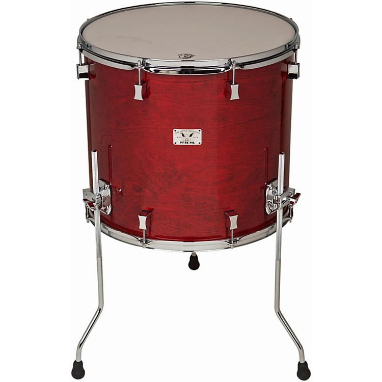 Pork PieLittle Squealer Birch/Mahogany Floor Tom with Chrome Hardware18x16 inchBlack Cherry High Gloss Lacquer