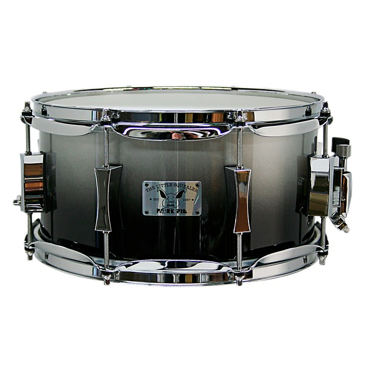 Pork Pie Little Squealer Birch/Maple Shell Snare Drum High Gloss Metallic Gray Lacquer with Chrome Hardware 7X13 Inch