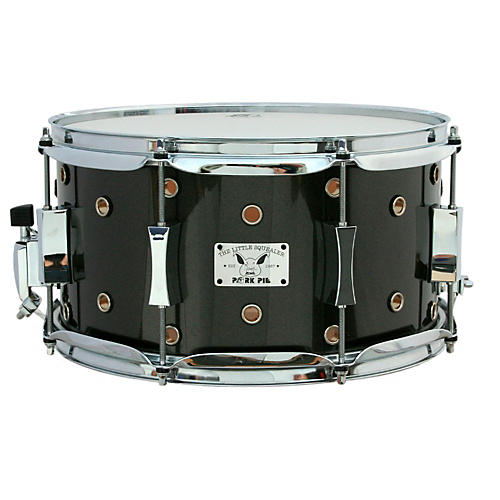 Pork Pie Little Squealer Birch/Maple Shell Snare Drum High-Gloss Metallic Gray Lacquer 13 x 7 in.