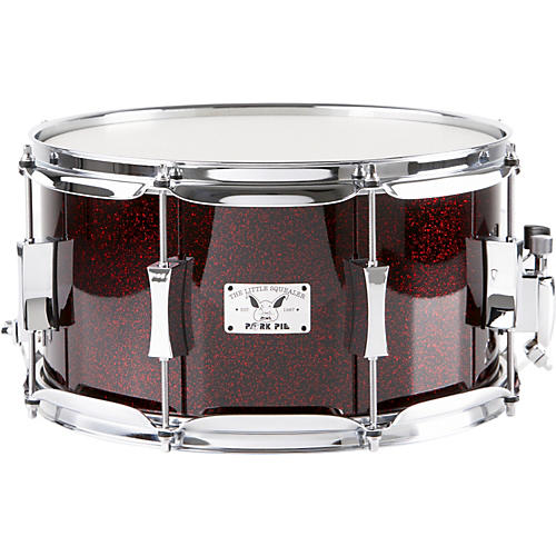 Pork Pie Little Squealer Maple Snare Drum, Blood Red Sparkle-thumbnail