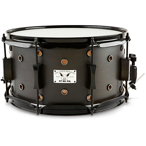 Pork Pie Little Squealer Snare Drum Black Ebony Satin 7