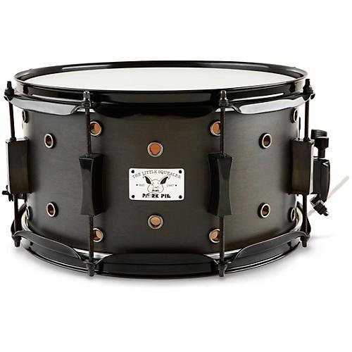 Pork Pie Little Squealer Snare Drum Black Ebony Satin 7 x 13 in.