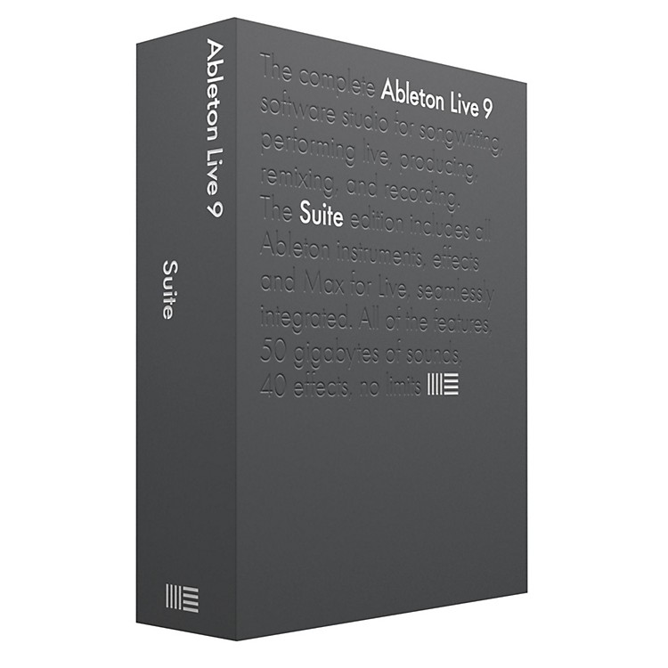 AbletonLive 9 Suite Upgrade from Live 7-8 Suite