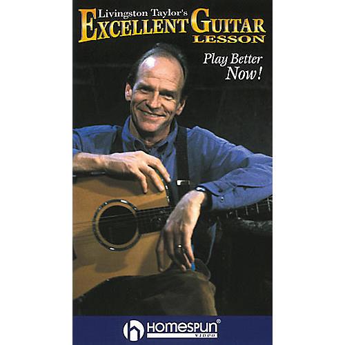 Homespun Livingston Taylor's Excellent Guitar Lesson (VHS)-thumbnail