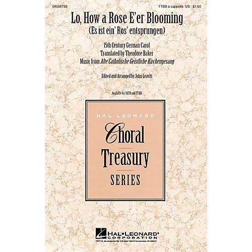Hal Leonard Lo, How a Rose E'er Blooming TTBB arranged by John Leavitt-thumbnail