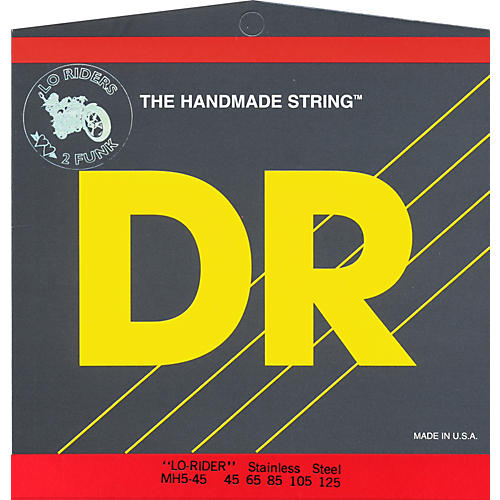 DR Strings Lo-Rider Bass Guitar 5-String Set