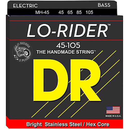 DR Strings Lo Rider LH-40 Stainless Steel Medium 4-String Bass Strings