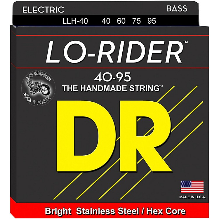 DR Strings Lo Rider LLH-40 Lite-Lite Stainless Steel 4-String Bass Strings