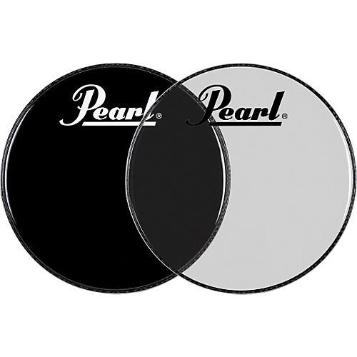 Pearl Logo Front Bass Drum Head Ebony 20 in.