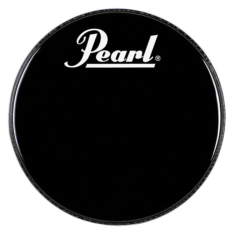 Pearl Logo Front Bass Drumhead Black 24 Inch