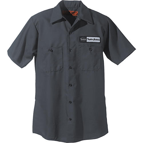 Taylor logo mechanic 39 s shirt charcoal extra large for Mechanic shirts with logo
