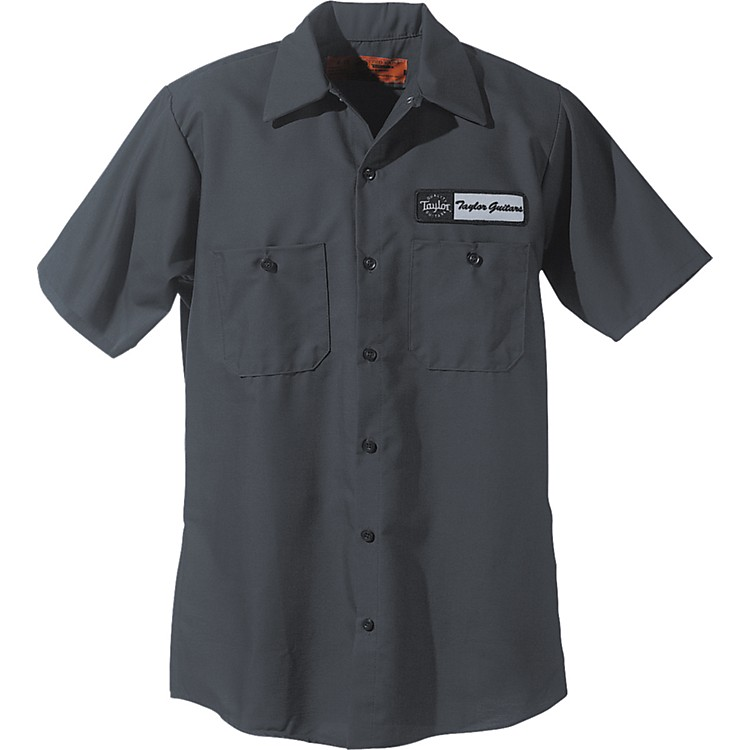 Taylor Logo Mechanic's Shirt Charcoal Medium