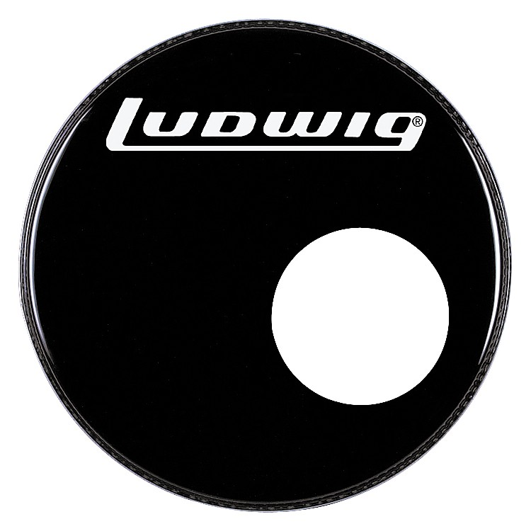 Ludwig Logo Resonance Bass Drum Head with Port