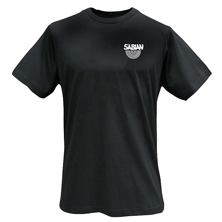 Sabian Logo T-Shirt, Black Medium