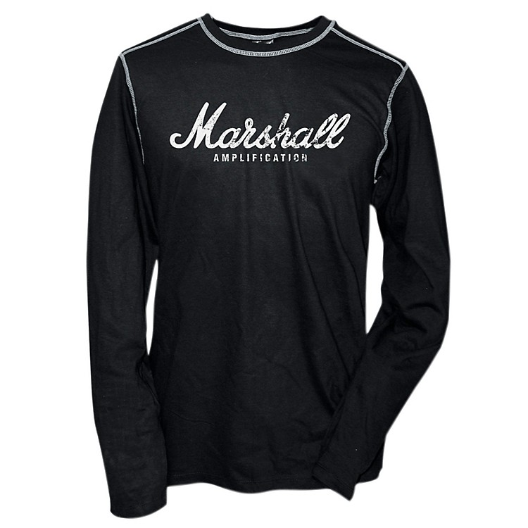 Marshall Logo Thermal Black with Grey Contrast Stitch Small