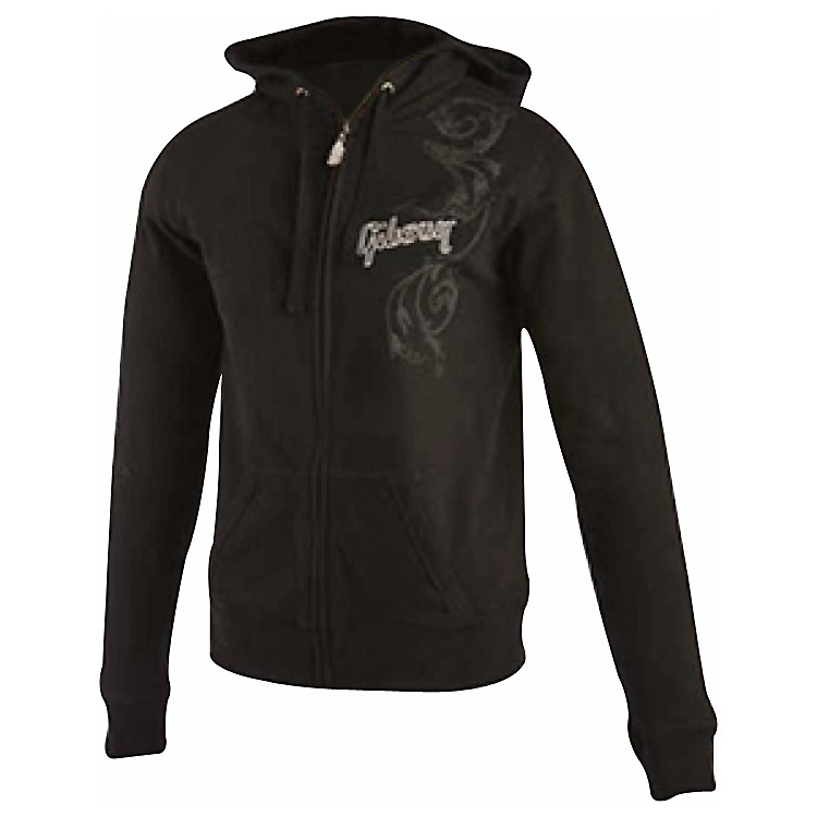 Gibson Logo Women's Zip-up Hoodie Black Large