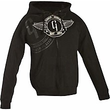 Gibson Logo Zip-up Hoodie Black Medium