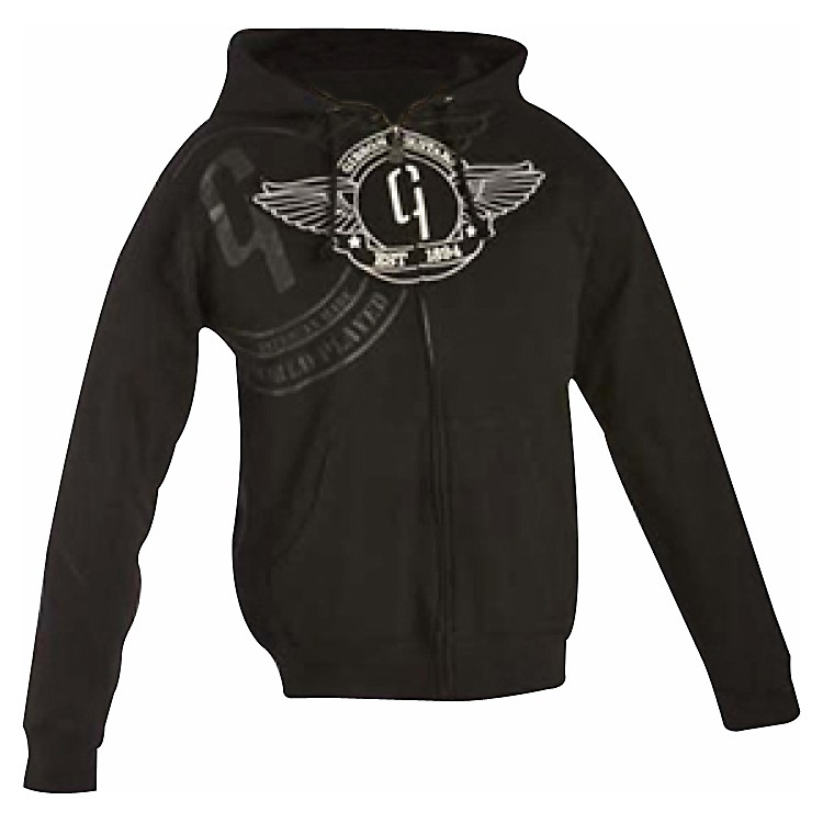 Gibson Logo Zip-up Hoodie Black X Large