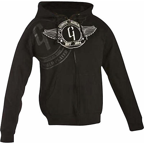 Gibson Logo Zip-up Hoodie Black Small