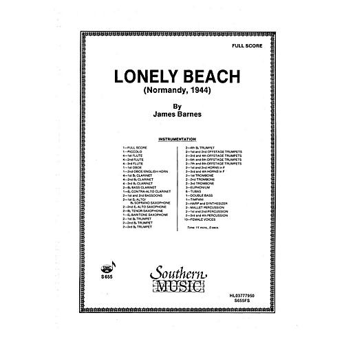 Southern Lonely Beach (Normandy 1944) (Oversized Full Score) Concert Band Level 5 Composed by James Barnes