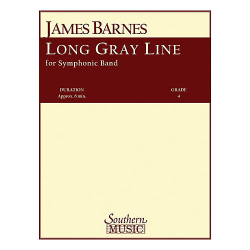 Southern Long Gray Line Concert Band Level 4 Composed by James Barnes-thumbnail