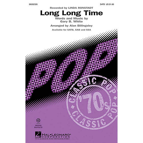 Hal Leonard Long Long Time ShowTrax CD by Linda Ronstadt Arranged by Alan Billingsley