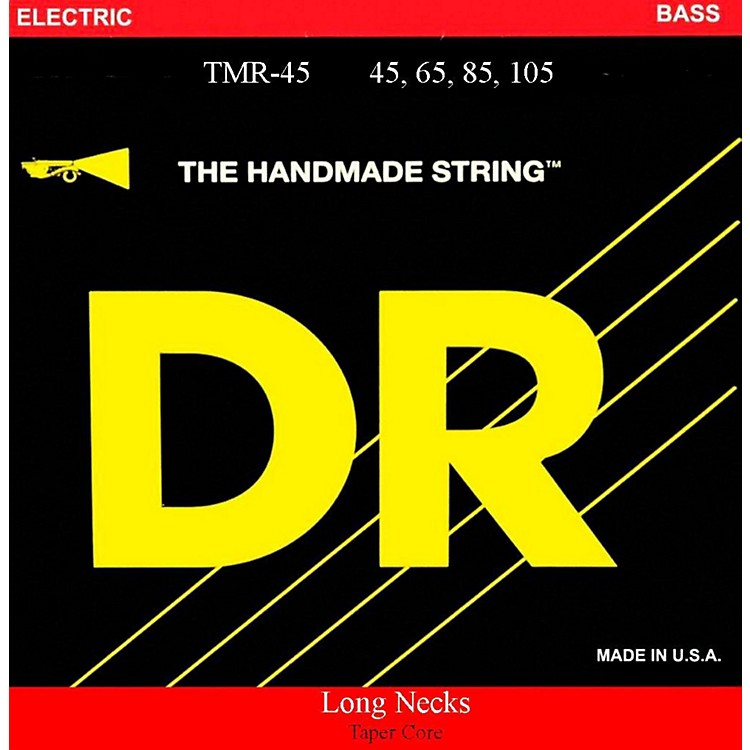 DR StringsLong Necks Taper Core Medium Light 4-String Bass Strings
