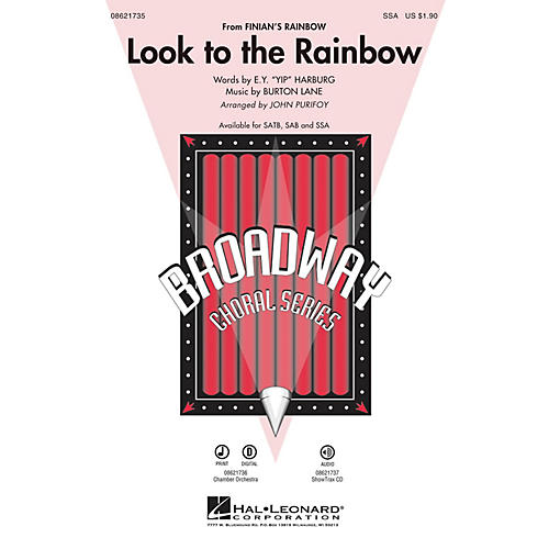 Hal Leonard Look to the Rainbow (from Finian's Rainbow) SSA arranged by John Purifoy-thumbnail