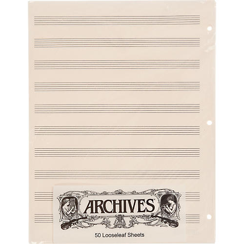 Archives Loose Leaf Manuscript Paper 10 Stave 50 Sheets