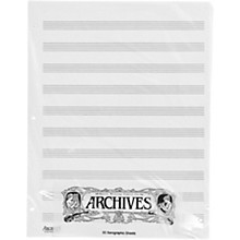 Archives Loose Leaf Manuscript Paper 10 Stave 50 Xerographic Sheets