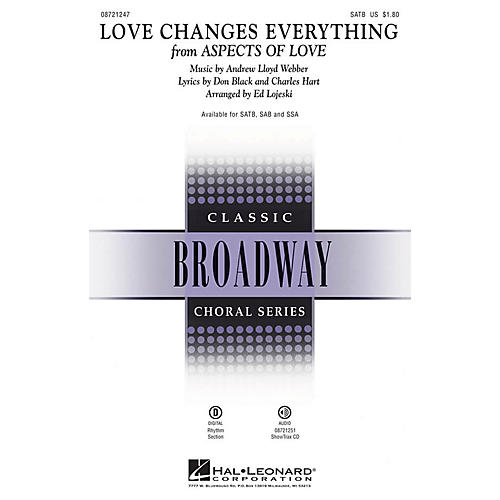 Hal Leonard Love Changes Everything (from Aspects of Love) SAB Arranged by Ed Lojeski-thumbnail