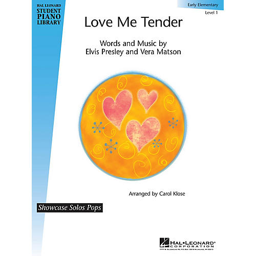 Hal Leonard Love Me Tender Piano Library Series Performed by Elvis Presley (Level Early Elem)-thumbnail