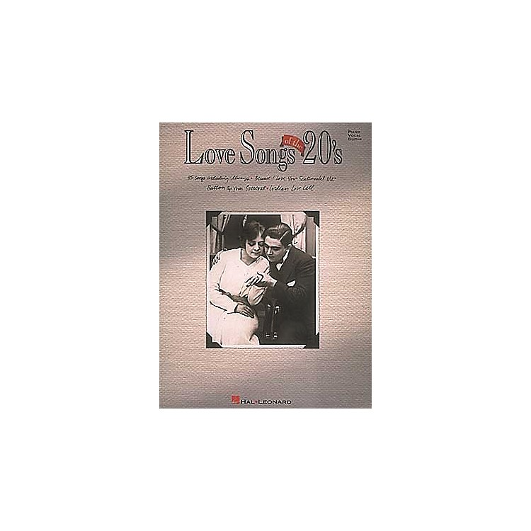 Hal LeonardLove Songs Of The 20's Piano, Vocal, Guitar Songbook