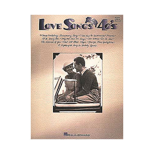 Hal Leonard Love Songs Of The 40's Piano/Vocal/Guitar Songbook