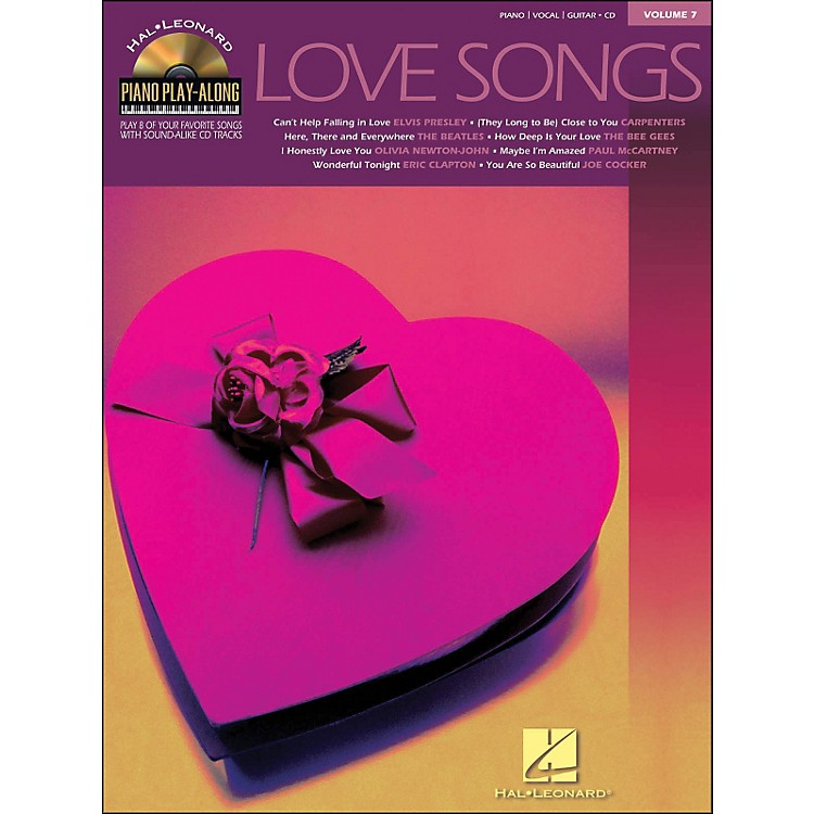 Hal LeonardLove Songs Piano Play-Along Volume 7 Book/CD arranged for piano, vocal, and guitar (P/V/G)