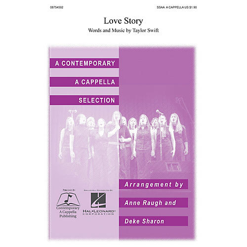 Contemporary A Cappella Publishing Love Story SSAA A Cappella arranged by Deke Sharon-thumbnail