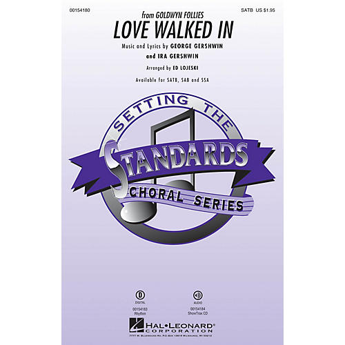 Hal Leonard Love Walked In ShowTrax CD Arranged by Ed Lojeski
