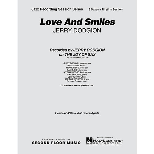 Second Floor Music Love and Smiles (Saxophone Part) Jazz Band Level 4 Composed by Jerry Dodgion-thumbnail