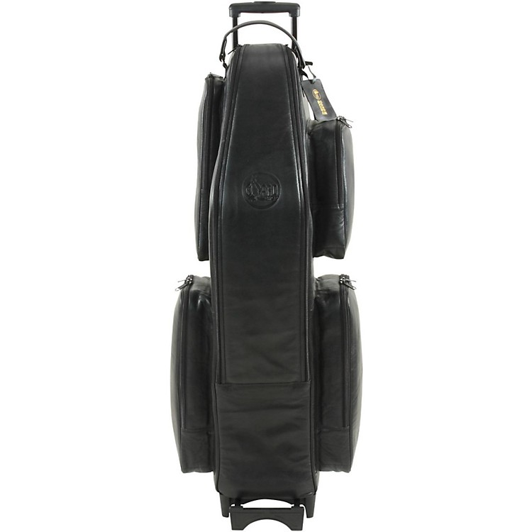 Gard Low A Baritone Saxophone Wheelie Bag 106-WBFLK Black Ultra Leather