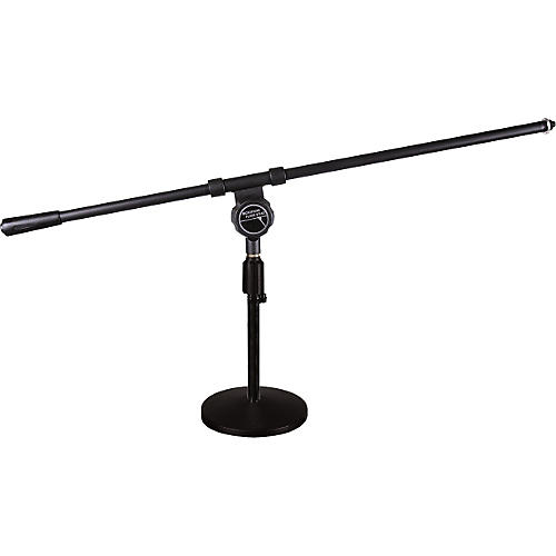 Musician's Friend Low-Profile Round-Base Mic Stand with Regular Boom-thumbnail