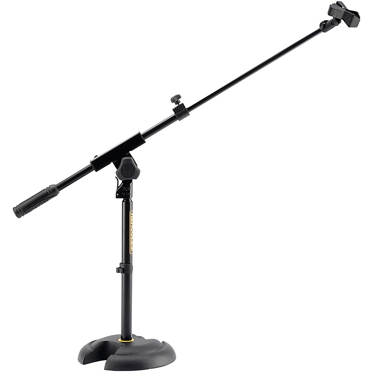Hercules StandsLow-Profile, Short Microphone Boom Stand