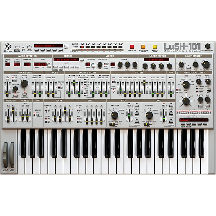 D16 GroupLuSH-101 SH101 32 voice polyphonic emulation (VST/AU)