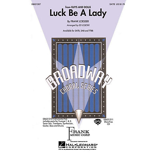 Hal Leonard Luck Be a Lady Combo Parts Arranged by Ed Lojeski-thumbnail