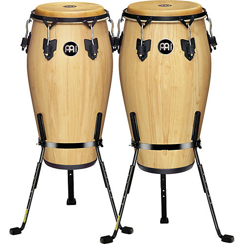 Meinl Luis Conte 2 Piece Conga Set with Free Basket Stands-thumbnail