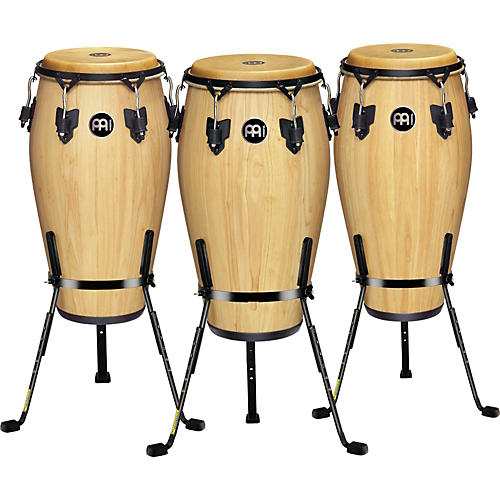 Meinl Luis Conte 3 Piece Conga Set with Free Basket Stands-thumbnail