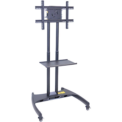 H. Wilson Luxor Adjustable Flat Panel Cart with Shelf-thumbnail