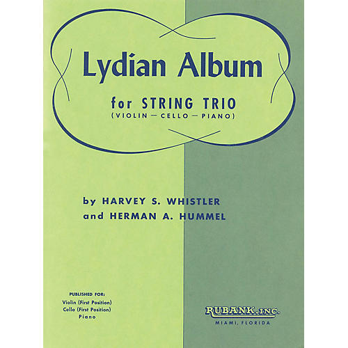Rubank Publications Lydian Album (Violin, Cello and Piano) Ensemble Collection Series Arranged by Harvey S. Whistler-thumbnail