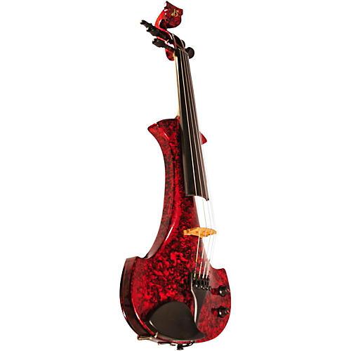 bridge lyra series 5 string electric violin red marble musician 39 s friend. Black Bedroom Furniture Sets. Home Design Ideas